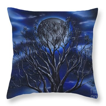 Charmed By The Moon Throw Pillow