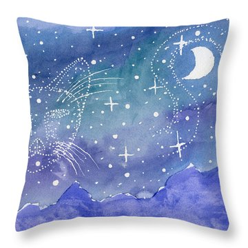 Charmed Night Throw Pillow