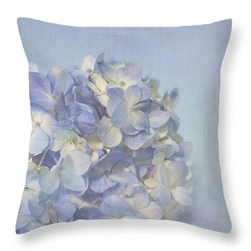Charming Blue Throw Pillow