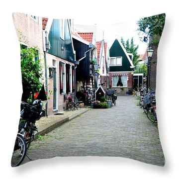 Throw Pillow featuring the photograph Charming Dutch Village by Joe  Ng