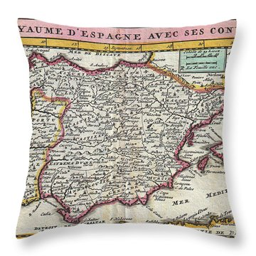 Charming Old World Map Throw Pillow by Inspired Nature Photography Fine Art Photography