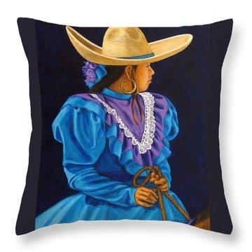 Charra Linda Throw Pillow by Pat Haley