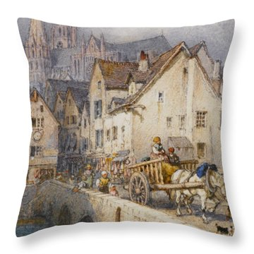 Charters Throw Pillow by Myles Birket Foster