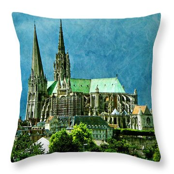 Chartres Cathedral Throw Pillow by Nikolyn McDonald