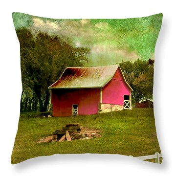 Chartreuse Of Legend Throw Pillow by Liane Wright