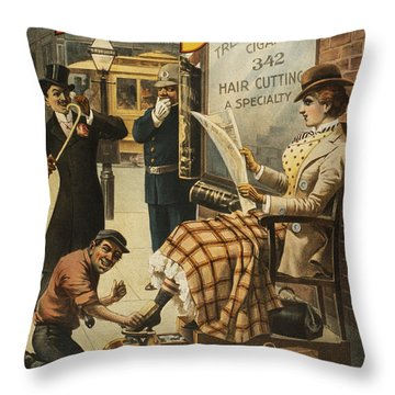 Chase That Away Boy Throw Pillow by Aged Pixel