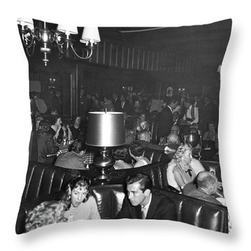 Chasen's Hollywood Restaurant Throw Pillow by Underwood Archives