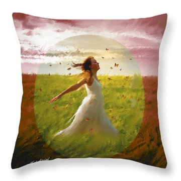 Chasing Butterflies Throw Pillow