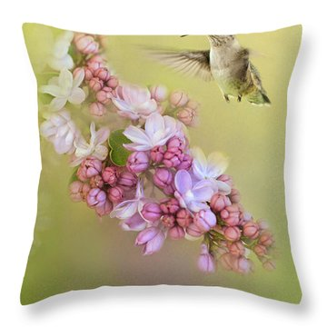 Chasing Lilacs Throw Pillow