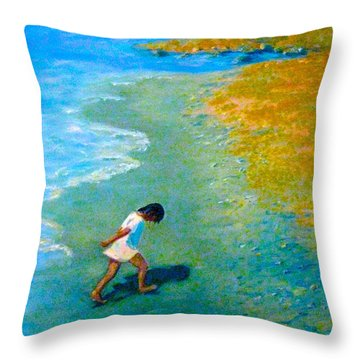 Chasing Shadows - 4 Throw Pillow by Gretchen Allen