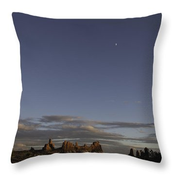 Chasing The Moon Throw Pillow by Cathy Donohoue