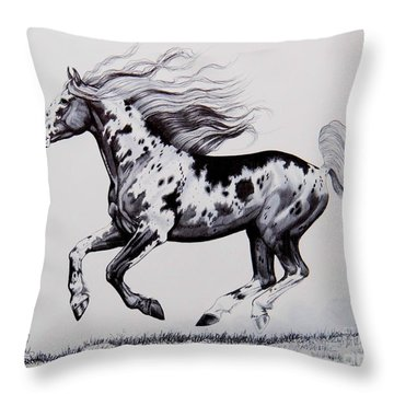 Chasing The Wind Throw Pillow by Cheryl Poland