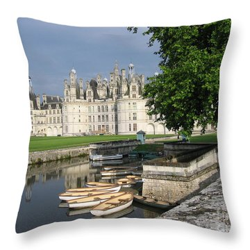 Chateau Chambord Boating Throw Pillow