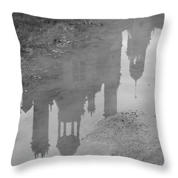 Chateau Chambord Reflection Throw Pillow