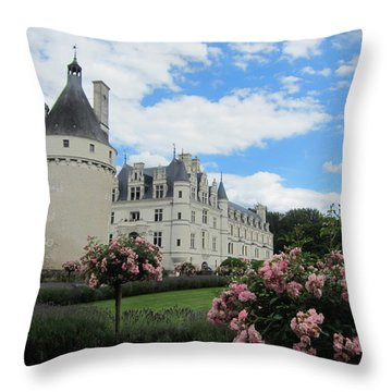 Throw Pillow featuring the photograph Chateau Chenonceau by Pema Hou