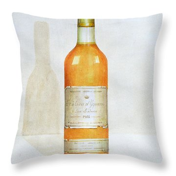 Chateau D Yquem Throw Pillow by Lincoln Seligman
