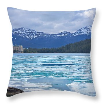 Chateau Lake Louise #2 Throw Pillow