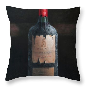 Chateau Latour Throw Pillow by Lincoln Seligman