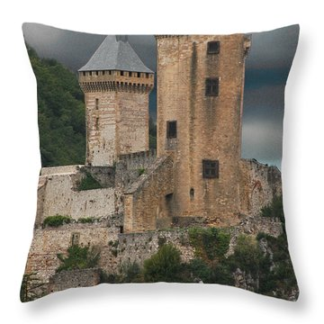 Chateau Tower Colour Throw Pillow by John Topman