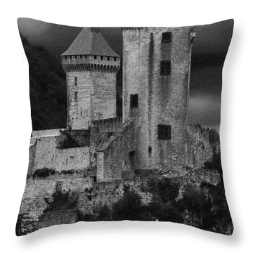 Chateau Tower Monochrome Throw Pillow