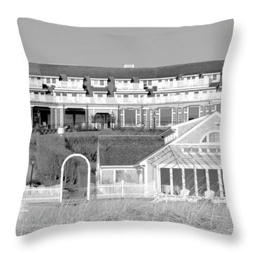 Chatham Bars Inn B And W Throw Pillow