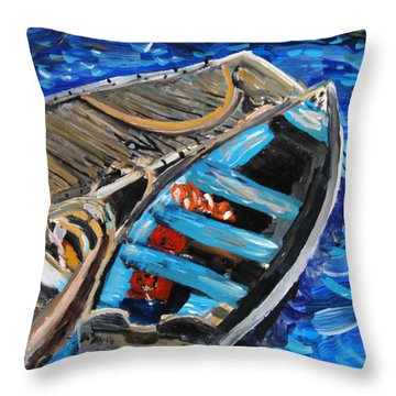 Chatham Blue Throw Pillow