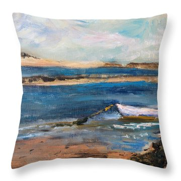 Chatham Boat In The Cove Throw Pillow