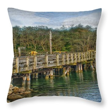 Throw Pillow featuring the photograph Chatham Mitchell River Draw Bridge   by Constantine Gregory