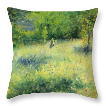 Chatou After Renoir Throw Pillow