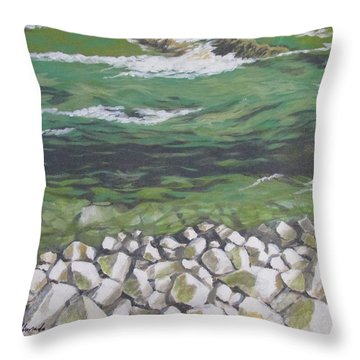 Chattahoochee Riverbank Throw Pillow