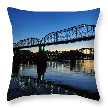 Tennessee River Bridges Chattanooga Throw Pillow