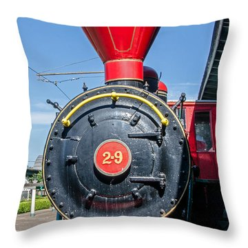 Chattanooga Choo Choo Steam Engine Throw Pillow by Susan  McMenamin