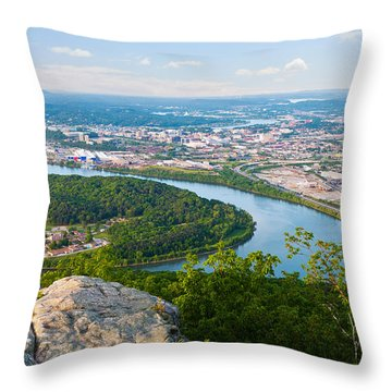 Chattanooga Spring Skyline Throw Pillow