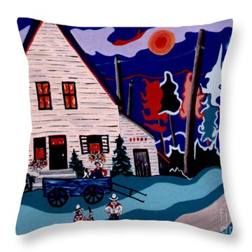 Chatting It Up Throw Pillow
