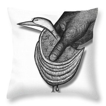 Throw Pillow featuring the drawing Chausson Aux Pommes by Carl Hunter