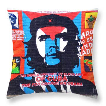 Che Guevara Throw Pillow by Nina Ficur Feenan