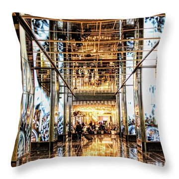 Check In Throw Pillow by Tammy Espino
