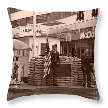 Check Point Charlie Throw Pillow