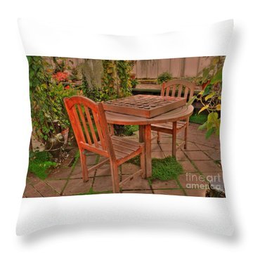 Checkers Throw Pillow by Kathleen Struckle