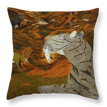 Checking The Air In The Nomads Lair Throw Pillow by Gerald Strine