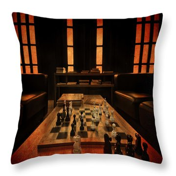 Checkmate Throw Pillow by Evelina Kremsdorf