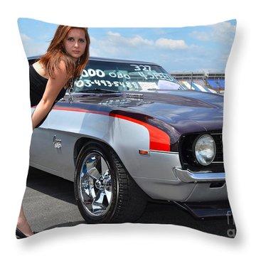 Cheeky Camaro Throw Pillow