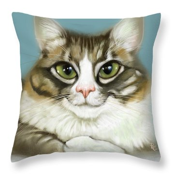 Cheeky Cat Throw Pillow