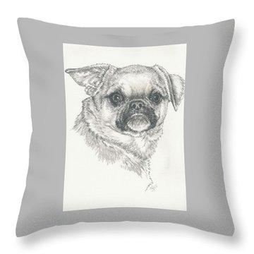 Cheeky Cheeks Throw Pillow by Barbara Keith
