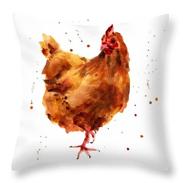 Cheeky Chicken Throw Pillow