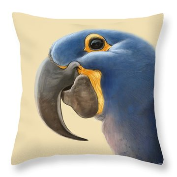 Cheeky Parrot Throw Pillow