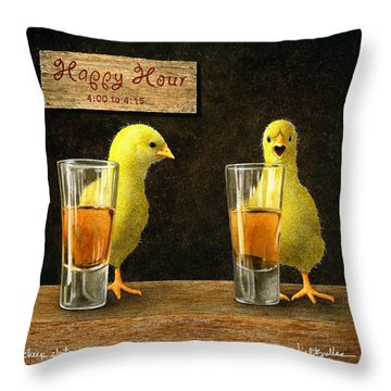 Happy Hour Throw Pillows
