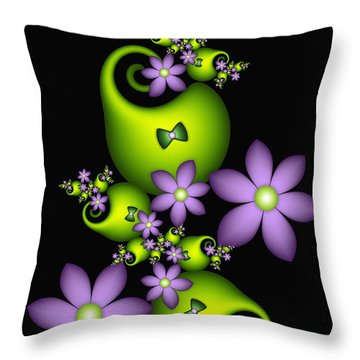 Throw Pillow featuring the digital art Cheerful by Gabiw Art