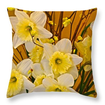 Cheerful Warmth Of Spring Throw Pillow by Byron Varvarigos