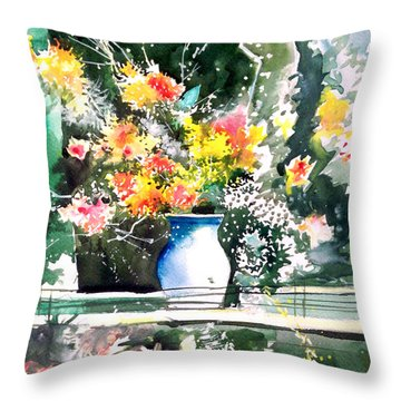 Cheers Throw Pillow by Anil Nene